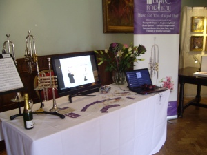 The Music for You Wedding Fayre stand